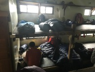 Bunk space in 369 Hut is really tight. Your permit will designate your bunk number. If the hut is not full, go to the high end of the numbers to find more space, because I'm pretty sure the system just assigns in number order.