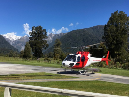 Helicopter in Fox Glacier